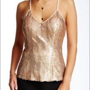 Soieblu Gold Sequin Cami